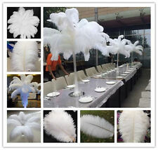 Gorgeous 10-200pcs White High Quality Natural OSTRICH FEATHERS 6-28inch/15-70cm