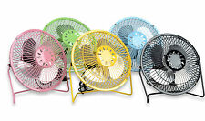 Multicolor Mini USB Desk Cooler Cooling Fan Metal Construction Jumbo HOME OFFICE
