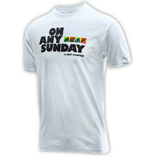 Troy Lee Designs NEW Mx On Any Sunday TLD T-Shirt Motocross Mens White Tee Shirt