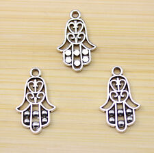 30/100/300 pcs wholesale: Very cute Tibet silver hand charm pendant 22x14 mm