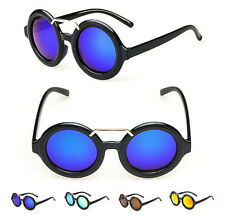47mm Vintage Round Sunglass Retro Fashion Glasses Mirror Lens