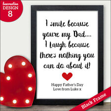Personalised Dad Daddy Fathers Day Gifts Presents Cards - Fathers Day Gifts