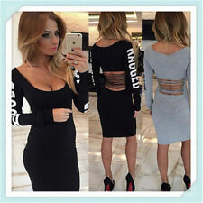 new Sexy Fashion Sleeveless backless Casual Party Evening Cocktail Mini Dress