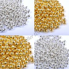 1000Pcs 3MM 4MM Round Metal Ball Spacer Beads DIY Jewelry Making Findings
