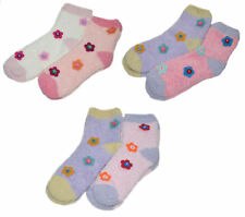 Womens Floral Bed Socks 2 Pairs Fluffy Soft Flower Loungewear Bedsocks One Size
