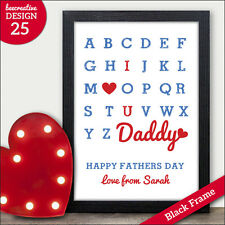 Personalised Father Dad Daddy Birthday Father's Day Christmas Gift Print Present