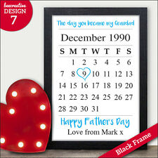 The Day You Became My Grandad Keepsake Personalised Fathers Day Gifts Dad Daddy