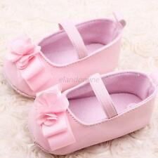 Baby Shoes Toddler Infant Girl Soft Sole PU Leather Flower Baby Crib Shoes 0-12M