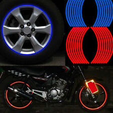 16 Strips Wheel Sticker Reflective Rim Stripe Tape Motorcycle Luminous Car Tape