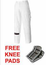 "PAINTERS TROUSERS+FREE KNEE PADS+TALL LEG 33"", DECORATORS,PLASTERERS,100% COTTON"