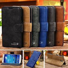 Genuine Leather Flip Wallet Case Cover For Samsung Galaxy SIV S4 i9500 i9505