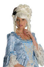 MARIE ANTOINETTE WIG RENAISSANCE COLONIAL ADULT WOMEN COSTUME WHITE WIG 51777