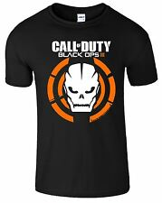 Call Of Duty Black Ops III Xbox PS3 PS4 Game Logo With Skull Mens Tshirt