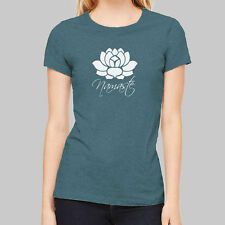 Womens Graphic Tees - Namaste Lotus Flower T Shirts, junior tops, short sleeve