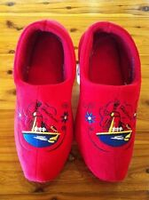 Dutch Clog Slippers / Hollandse slippers DARK RED WIND MILL& FREE GIFT #BIG SALE
