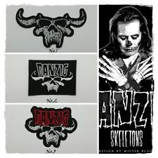 Danzig Sew Iron On Patch Embroidered Heavy Metal Rock Music Band Applique logo