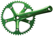 CRANK SET165x46 Green Alloy ORIGIN8 Pro Pulsion 1-Spd Chainring, Arms FIXIE JIS