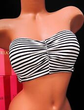 VICTORIA'S SECRET VS Midi Babe Bandeau Bikini Top ND3 Black White Stripe