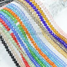Free Ship Top Quality Czech Crystal Faceted Rondelle Spacer Beads 4/6/8/10MM