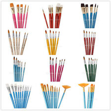 Artist Brushes Painting Brush Flat Tipped Set for Watercolours Oil Acrylic Paint