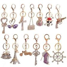 Crystal Rhinestone Charm Pendant Keys Wallet Purse Bag Keyring Key Chain Gift