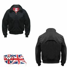 Warrior Clothing Mens New Prestige Vented Harrington Summer Jacket Black BNWT