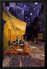 The Café Terrace on the Place du Forum, Arles, at Night, c.1888 Lamina Framed