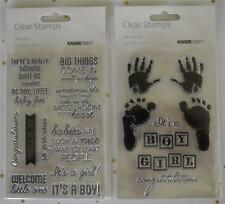 U Choose) Baby Stamp Sets~ Little One OR Pitter Patter ~ Scrapbook Card Making
