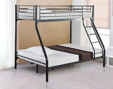Montreal Black Double 3 Sleeper Bunk Bed Childrens Furniture Metal with Mattress