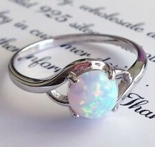 Fashion Fire Opal genuine solid 925 Sterling Silver Gemstone Jewelry Ring