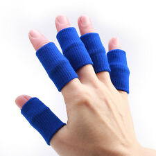 10pcs Sports Elastic Finger Sleeve Support Protector (blue)Guard Basketball NICE