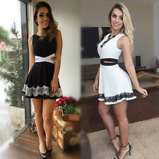 Fashion Sexy Women Summer Sleeveless Evening Party Cocktail Club Mini Slim Dress