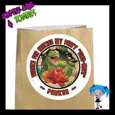 Dinosaur Birthday Party Favor Goody Bag STICKERS - Personalized Loot Bag Labels