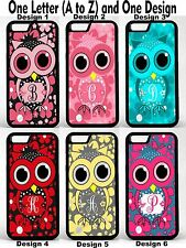 For iPhone 6 Plus Cute Owl Flowers Group 1 Personalized Monogram Phone Case Cove