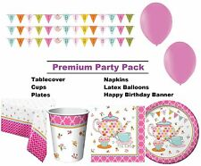 Tea Time | Flower | Rose 8-48 Guest Premium Party Pack | Tableware | Decorations