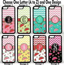 For iPhone 4 4s Watermelon Chevron Grp 1 Personalized Monogram Phone Case Cover