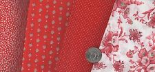 FQ VARIOUS ASSORTMENT OF RED  100% COTTON QUILTING FABRIC