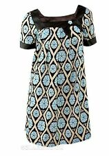 "Ladies Dress ""Miss Posh"" Blue Multi Print Patterned Mini Womens Dress"