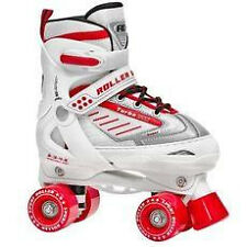 New Roller Derby Skate Trac Star White Adjustable Roller Derby