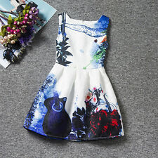 Fashion Toddler Kids Baby Dress Girls Sleeveless Party Princess Pageant Dresses