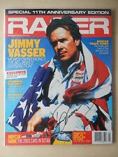 Jimmy Vasser Autographed Racer Magazine - May 2003