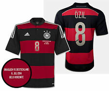 ADIDAS M. OZIL GERMANY AWAY JERSEY SEMIFINAL DETAIL FIFA WORLD CUP BRAZIL 2014