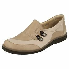 Suave 'Lucy' Ladies Stone/Beige Casual Leather Comfort Shoes