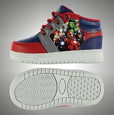 Kids Boys Marvel Durable Spiderman Flashing Lights Trainers Shoes Size C5-C12