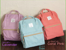 Anello Official Japan Handle Canvas Backpack Campus Rucksack School Bag Lavender