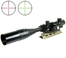 Tactical 6-24X50 Rifle Scope R/G Mil-dot w/PEPR Tri-rail Mount + Red Laser Sight