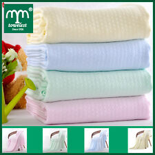 100% Bamboo Baby Blankets Solid Baby Receiving Blanket Personalised Gift Newborn