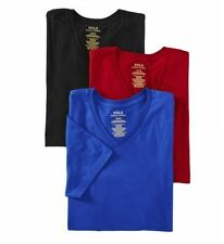 Polo Ralph Lauren LCVN Classic Fit 100% Cotton V-Neck Shirts - 3 Pack