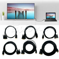 DVI-D Male to HDMI Male Cable HDMI To DVI 24+1 Mutual Convert for HDTV HD 3-32ft