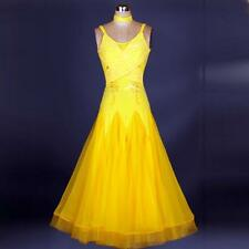 Yellow Standard  Ballroom  Competition Dance Evening Dress Modern Waltz Tango